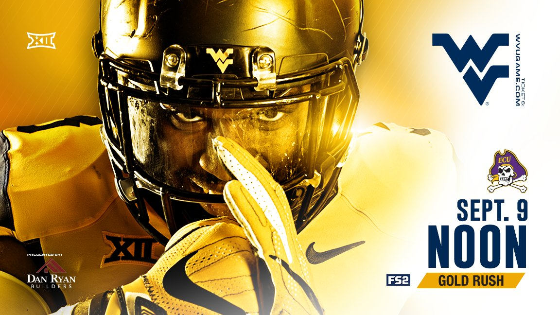 WVU Unleashes Gold Rush Uniforms, East Carolina
