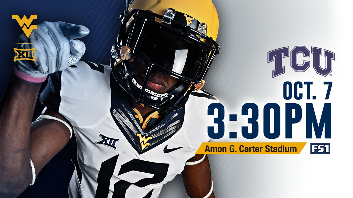 Kickoff Time Set For WVU-TCU