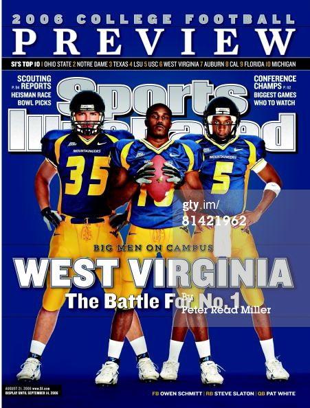 Owen Schmitt, Steve Slaton and Pat White Sports Illustrated