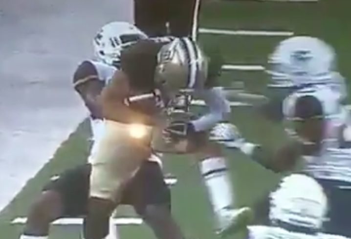 WVU Defender Punches Baylor Player During Tackle Attempt