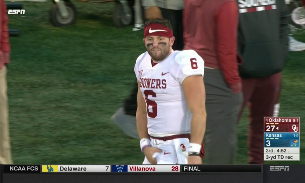 Baker Mayfield Benched To Start Vs Mountaineers