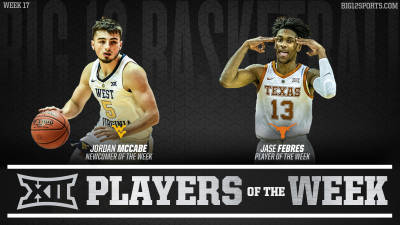 Jordan McCabe Named Big 12 Newcomer of the Week