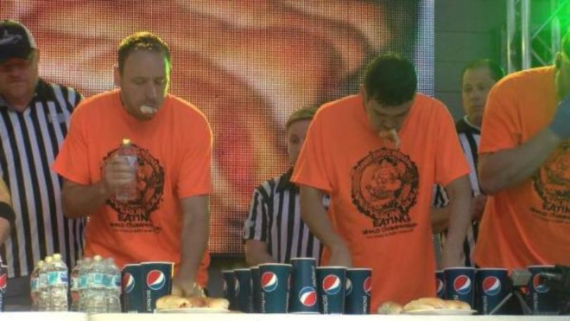 joey chestnut pepperoni roll eating contest fairmont wv