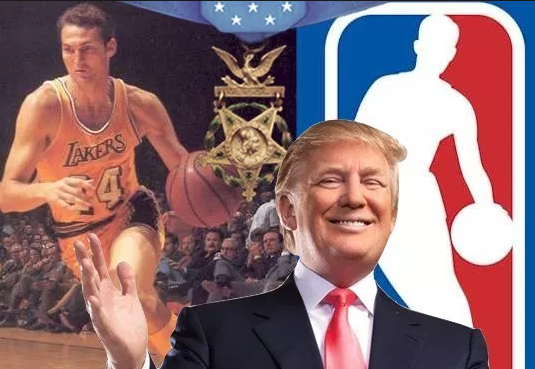 president trump jerry west