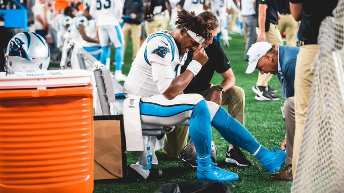 cam newton foot injury