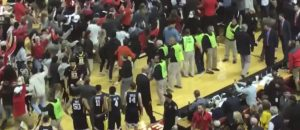 Not A Good Look: Wesley Harris Punches Texas Tech Fan Storming Court - VIDEO